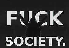 Enmarcado impresión: F@&K Society (imagen cartel anónimo activista señor robot piratas informáticos)