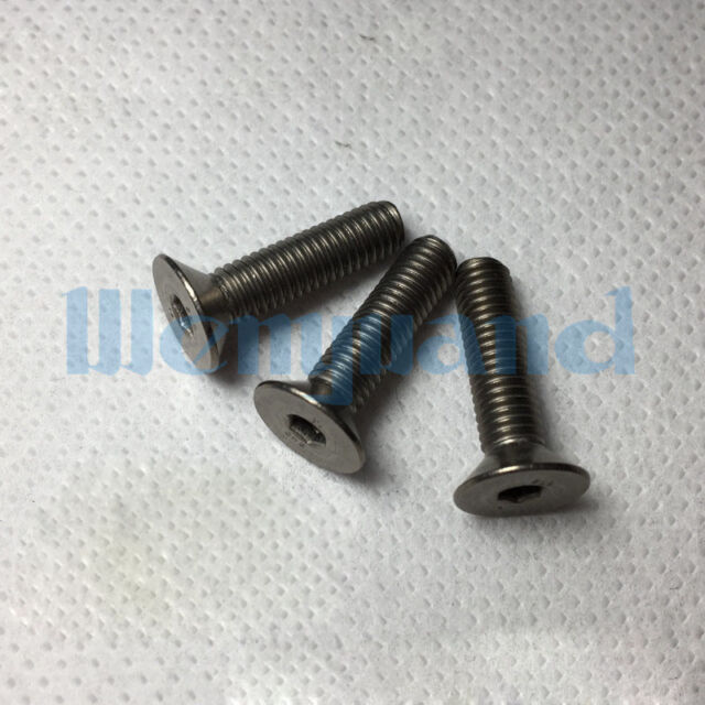 Black M6 x 30mm x 1mm Allen Head 2x Titanium Tapered Bolt GR5 RacePro