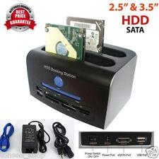 2.5, 3.5 Zoll SATA IDE HDD Docking Station Dual Hart Disk Fahrt Doch ESATA USB