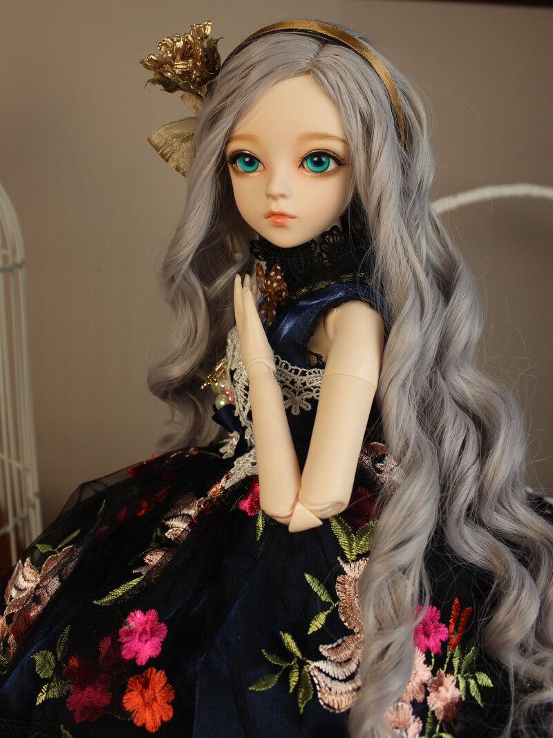 Set COMPLETO bjd doll 24  1/3 fatto a mano in pvc MSD Ragazza bambole W Parrucca vestiti modalità regali