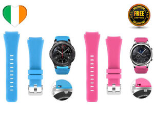 Replacement-Strap-For-Samsung-Galaxy-S3-Watch-Band-46mm-Silicone-Blue-Pink