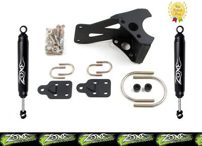 Zone Offroad 7350 Dual Steering Stabilizer for 2005-17 Ford F250 F350 Super Duty