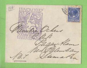 Netherlands-1937-Flight-cover-to-Pagar-Alam-Sumatra-netherland-Indies