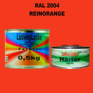 Ral-2004-Orange-Pur-Peinture-Acrylique-0-75-kg-de-Brillant-avec-Durcisseur