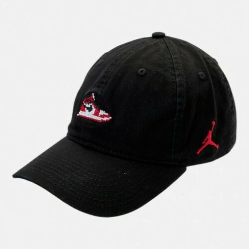 NUOVO Nike HOH Air Michael Jordan AJ Volo Nero K GIOCO Hat Cap Bulls Jumpman