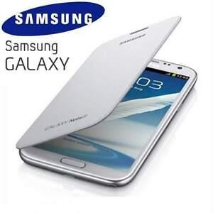 Genuine-Samsung-Galaxy-Note-2-N7100-Original-Flip-Cover-Case-EFC-1J9FWEG-White