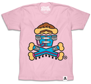 Baker Men/'s Pink T-Shirt: Sgt Johnny Cupcakes