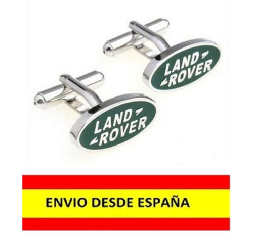 GEMELOS MANCUERNAS YUNTAS LOGO DE LAND ROVER COCHES ACERO CABALLEROS