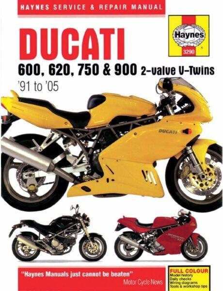 1991-2005 Ducati Monster M600 600 620 750 900 SuperSport HAYNES REPAIR  MANUAL | eBayeBay