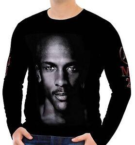 737e77b75e4 Michael Jordan Mens Long Sleeve T-Shirt Tee Size S M L XL 2XL 3XL | eBay