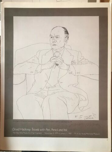 "David Hockney,Sir John Gielgud,San Francisco Museums Mini Poster 14x10/"" 27"
