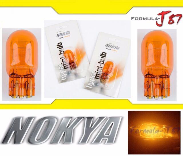 Nokya Luz 7443 Naranja 21 / 5w Nok5229 Dos Bombillas Freno Stop Trasero Recambio