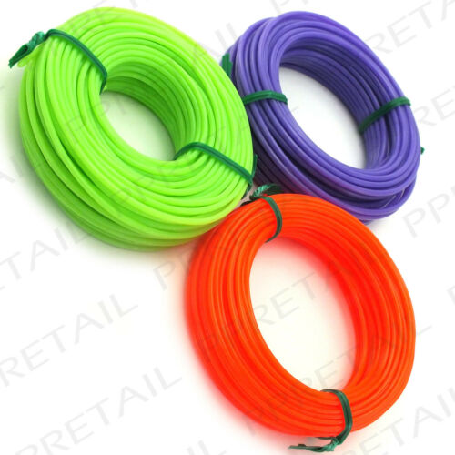 CHOOSE 1.25mm-1.65mm-2mm STRIMMER LINE Electric//Petrol Thick Nylon Wire Garden