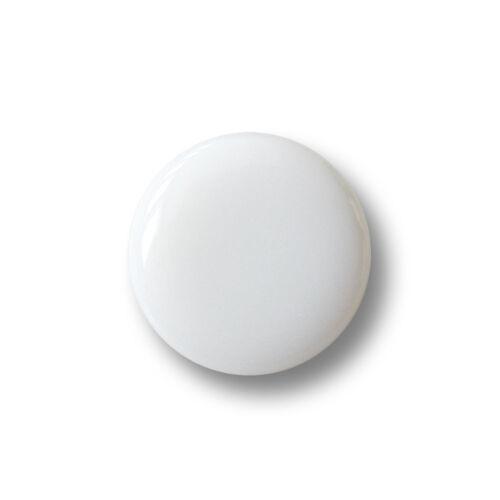 4305ws-12mm 5 kleine schlichte weiß silberfarbene Kunststoff Ösen Knöpfe