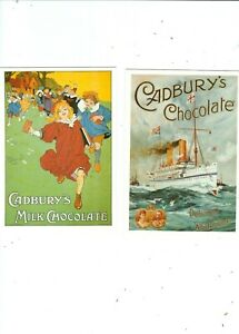 2  POSTCARDS PUBLISHED IN UK BY MUMBLES    CADBURYS CHOCOLATE