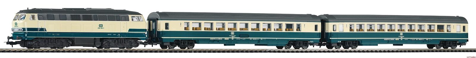 H0 Smkonstkontrollera ljus Set Personenzug BR185 Wagen DB Ep.IV Piko 59007 Neu