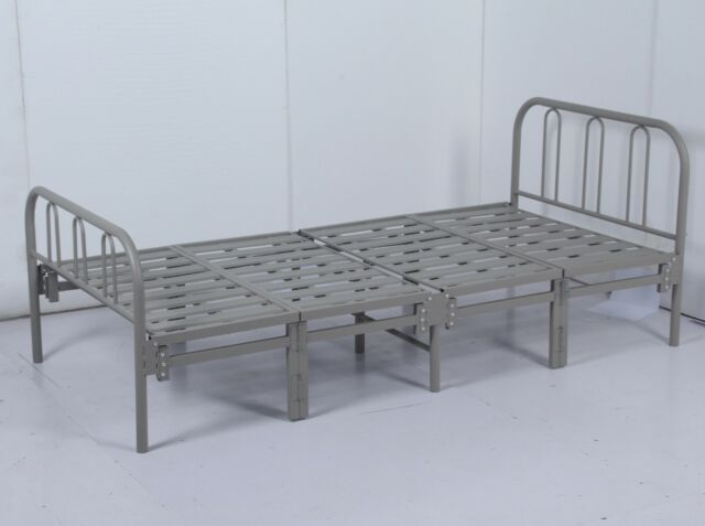 low priced d2cc5 74591 Texas Heavy Duty Metal Folding or Guest Bed 3ft Single With Budget Mattress