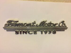 Vintage Metal Fremont Motor Company Since 1938 Car Automobile Dealership Emblem Ebay