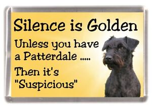 Patterdale-Terrier-Dog-Fridge-Magnet-034-Silence-is-Golden-034-by-Starprint