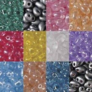 2-5x5mm-2-Hole-Twin-Beads-Czech-Glass-Seed-Beads-23-Gram-Tube