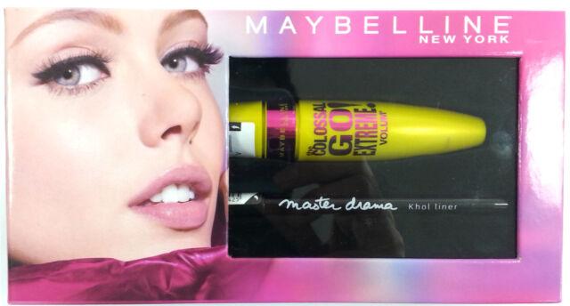 6019ceca067 Maybelline Colossal Volume Black Mascara & Master Drama Khol Eyeliner (Gift  ...