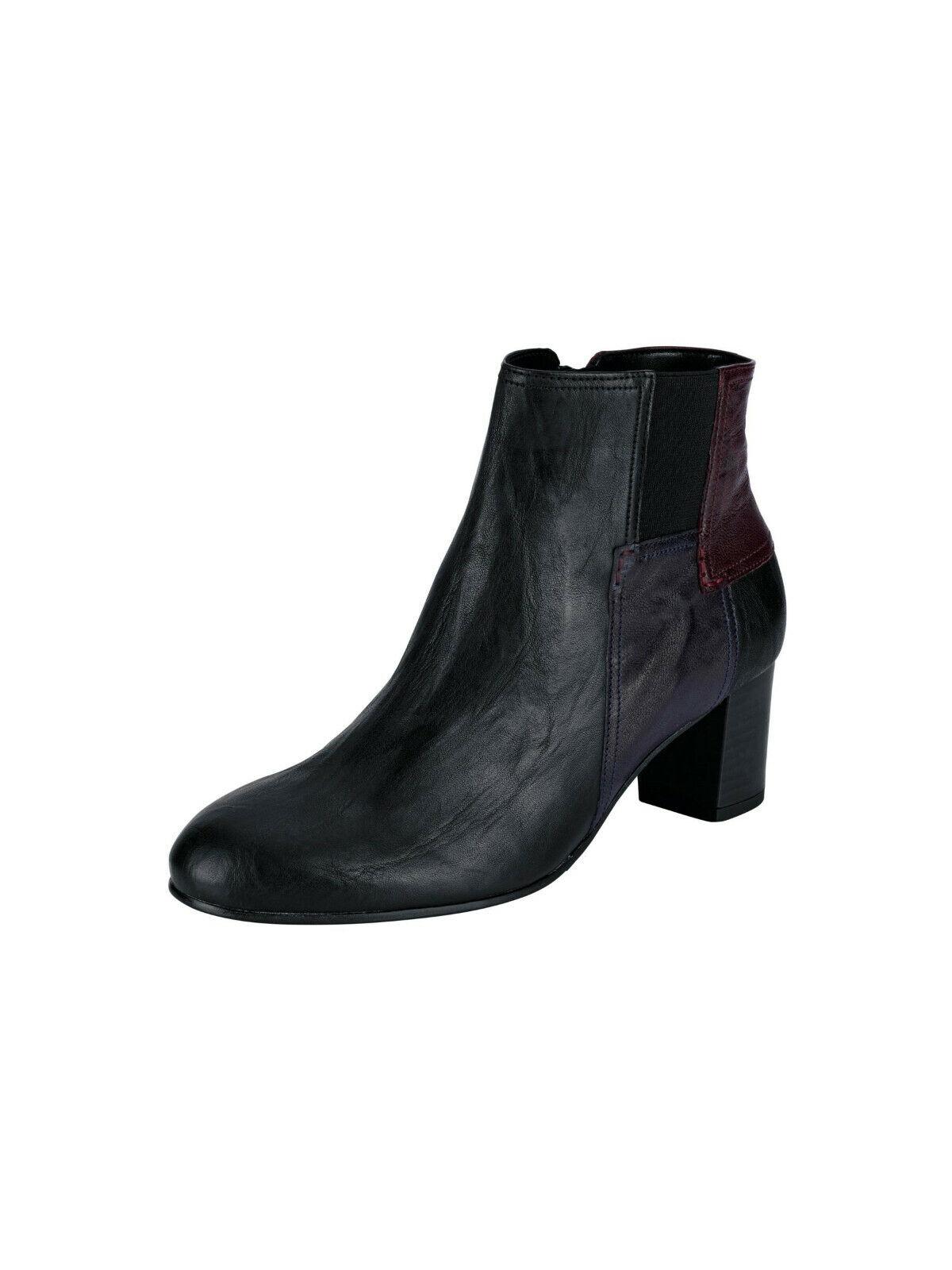 Gabor Comfort Leder-Stiefelette, black. Gr. 4. NEU    KP  SALE%%%