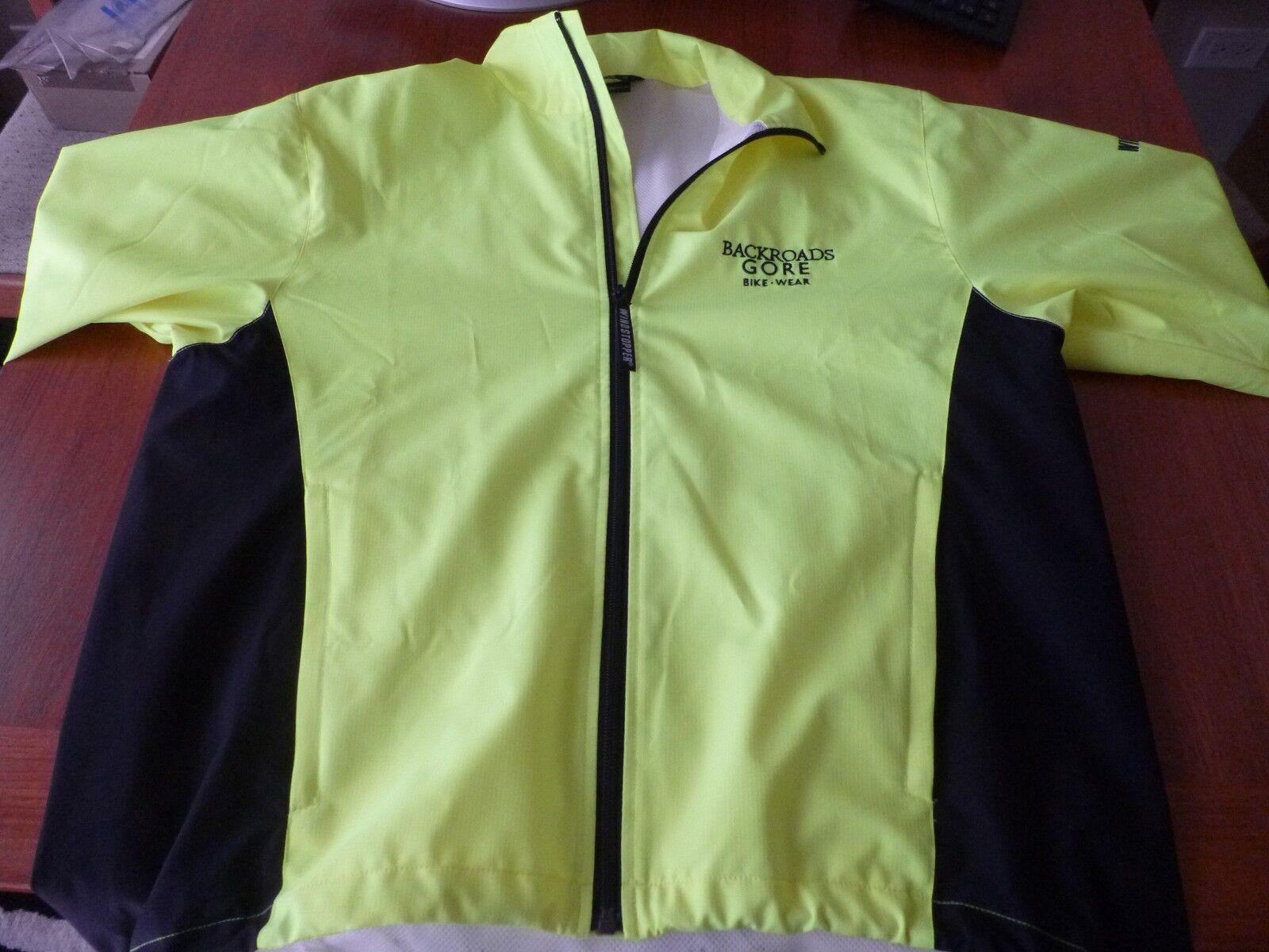 Gore Bike  Wear windstopped Para Hombre Chaqueta Ciclismo Soft Shell Medio Amarillo Neón  100% a estrenar con calidad original.