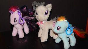 My-Little-Pony-Ty-Small-Plush-Pony-Lot-Rainbow-Dash-amp-Twilight-w-Backpack-Clip