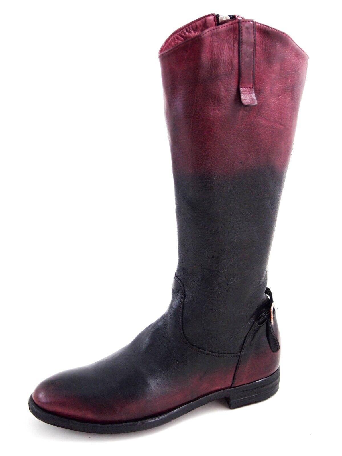 Officine Creative Kniehohe Stiefel,rotes schwarzes Leder Damengröße  EU  880