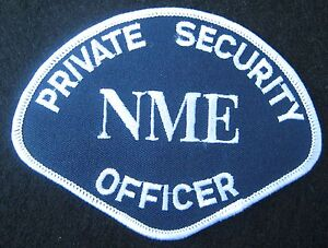 PRIVATE-SECURITY-OFFICER-EMBROIDERED-SEW-ON-PATCH-NME-ADVERTISING-COLLECTIBLE