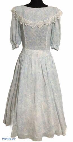 Vintage 80's Gunne Sax Floral Peasant Dress, Dream