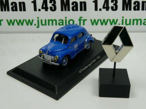 insigne RE55//73 G lot voiture 1//43 Eligor renault 4 CV TYPE R 1063 1953