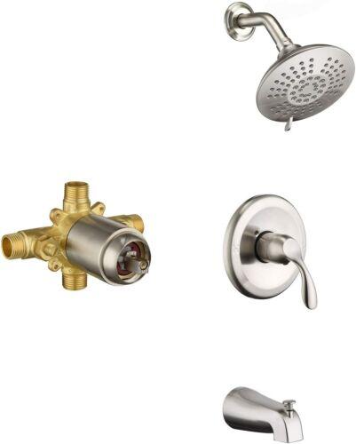 Valve BDT1012BN BRUSHED NICKEL HOMELODY Shower Tub Kit Tub and Shower Trim Kit