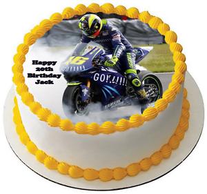 Fine Motorbike 7 5 Premium Bike Edible Rice Wafer Cake Topper Can Be Funny Birthday Cards Online Alyptdamsfinfo