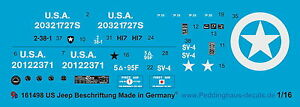 Peddinghaus-1-16-1498-US-Jeep-Beschriftung-No-1
