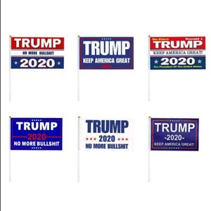 """Trump2020 KMGA Miniature Flag 5x8 inches Handheld Stick Flag 12/""""  Pole 1 Dozen"""