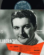 "LIBERACE PLAYS CHOPIN 10"" LP Eugene Ormandy PHILIPS Minigroove HOLLAND S06609R"