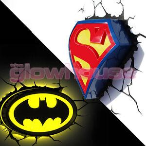 3d wall light night light dc comics batman vs superman illuminated image is loading 3d wall light night light dc comics batman mozeypictures Images