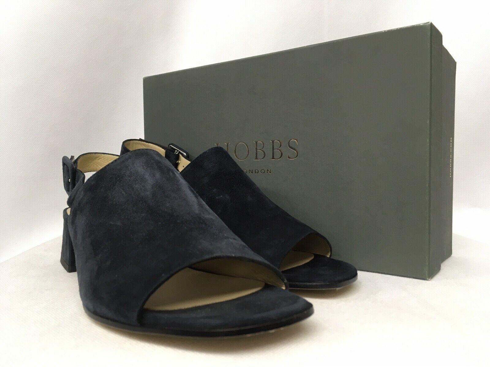 Hobbs Claudine Fine Suede Navy Sandals. Various Größes.