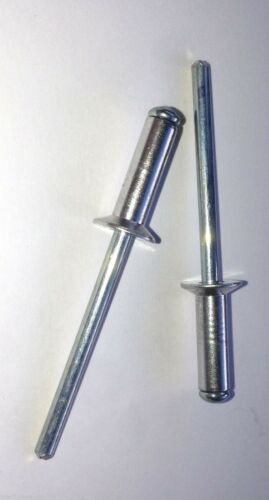 4.8mm x 8mm Blind Pop Rivets Countersunk Aluminium Body Steel Stem PACK OF 50