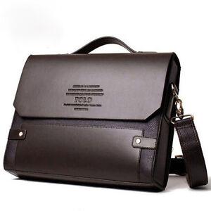 Men s POLO Fanke Shoulder Messenger Bag Pu Leather Handbag Briefcase ... 10cab4d737c05