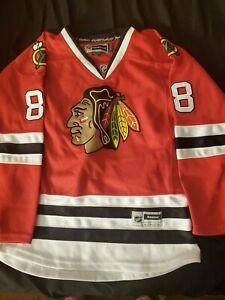 NHL-Patrick-Kane-88-Chicago-Blackhawks-Women-039-s-Reebok-Jersey-Sewn-Sz-Small