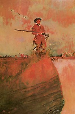 George Rogers Clark on His Way to Kaskaskia,by Howard Pyle Western 13x19