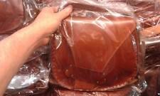 borsa DONNA in CUOIO PELLE  CON Tracolla Artigianale bag 26x23 L10CM