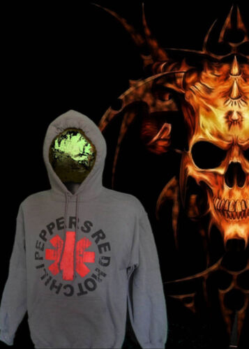 RED HOT CHILI PEPPERS ROCK HOODIES GREY MEN/'S SIZES NEW!