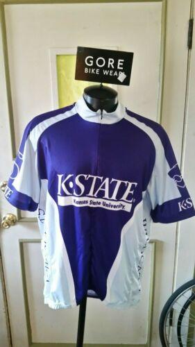 K Kansas State University NCAA Cycling Jersey Bike Wildcats Medium Xl 2XL