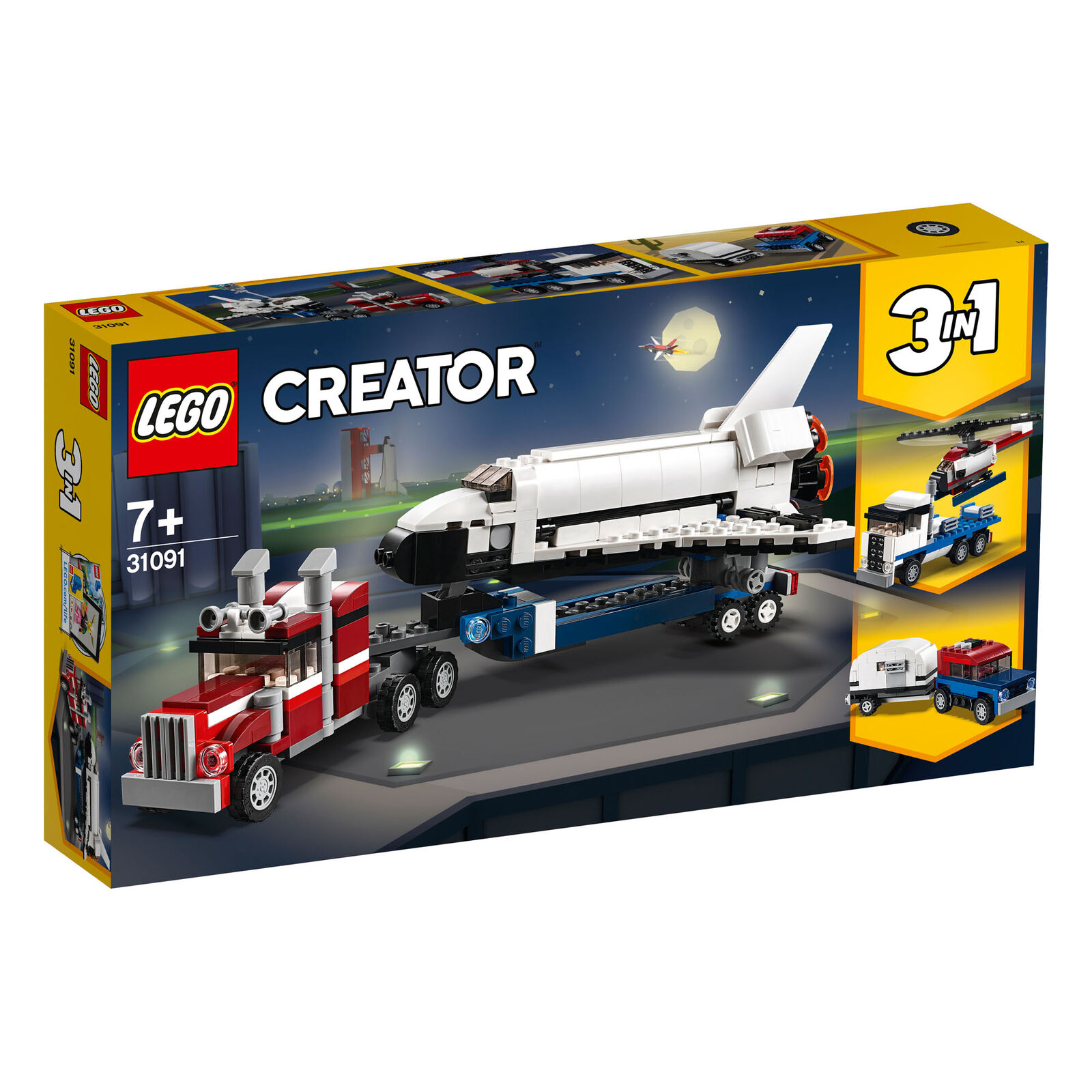 31091 LEGO Creator Shuttle Transporter 341 Pieces Age 7+ New Release for 2019