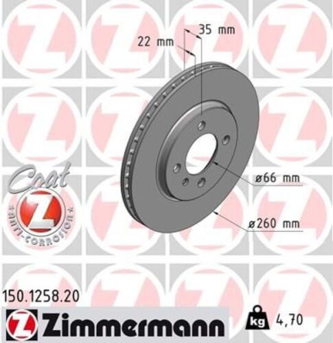 ZIMMERMANN Bremsscheiben 260mm Belge vorne fr BMW 3 Touring ...