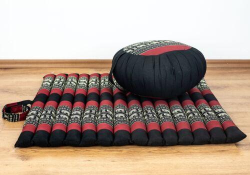 Yogamatte Meditationskissen Pilates Rollmatte XS mit Zafukissen
