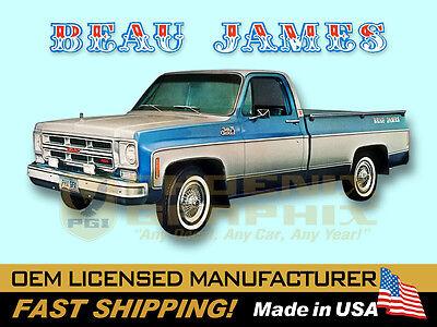1975 Beau James Gmc Truck Decals Kit Ebay